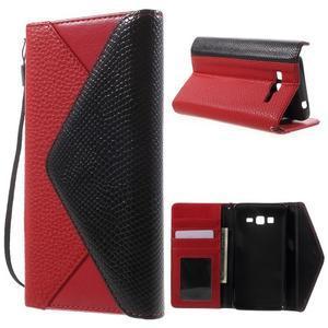 Writes elegantní pouzdro na Samsung Galaxy Grand Prime - červené - 1