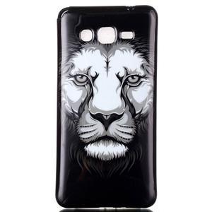 Jelly gelový obal na mobil Samsung Galaxy Grand Prime - lev - 1