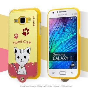 Domi gelové pouzdro s kočičkou na Samsung Galaxy J1 - žluté
