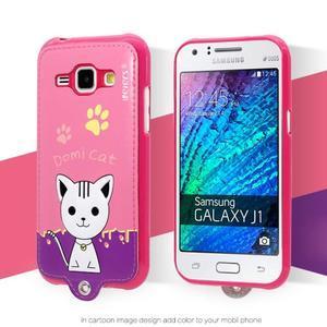 Domi gelové pouzdro s kočičkou na Samsung Galaxy J1 - rose - 1