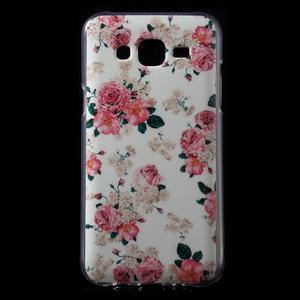 Gelové pouzdro na mobil pro Samsung Galaxy J5 - květiny - 1
