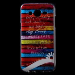 Gelové pouzdro na mobil pro Samsung Galaxy J5 - barvy dřeva - 1