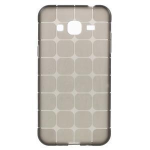 Square matný gelový obal na Samsung Galaxy J5 - šedý - 1