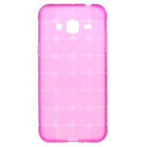 Square matný gelový obal na Samsung Galaxy J5 - rose - 1