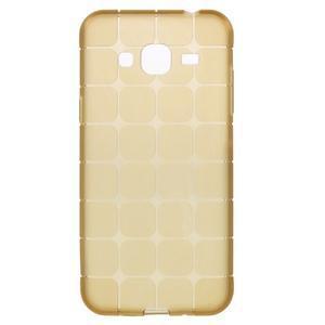 Square matný gelový obal na Samsung Galaxy J5 - champagne - 1