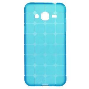 Square matný gelový obal na Samsung Galaxy J5 - modrý - 1