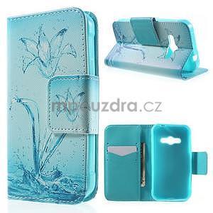 Vzorové peněženkové pouzdro na Samsung Galaxy Xcover 3 - vodní květ - 1