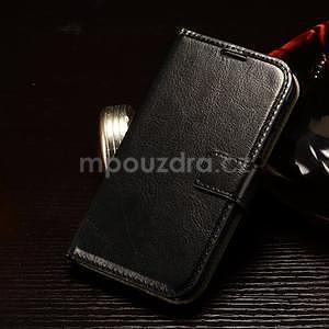 Koženkové peněženkové pouzdro na Samsung Galaxy Xcover 3 - černé - 1