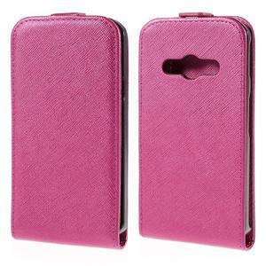 Flipové koženkové pouzdro na Samsung Galaxy Xcover 3 - růžové - 1