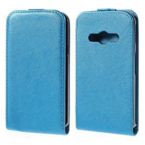 Flipové koženkové pouzdro na Samsung Galaxy Xcover 3 - modré - 1