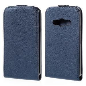 Flipové koženkové pouzdro na Samsung Galaxy Xcover 3 - tmavěmodré - 1