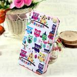 Stylové peněženkové pouzdro pro Samsung Galaxy Xcover 3 - sovičky - 1/7