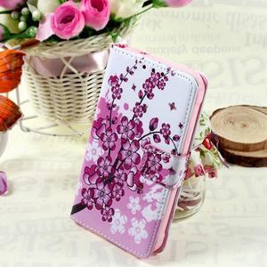 Stylové peněženkové pouzdro pro Samsung Galaxy Xcover 3 - kvetoucí větvička - 1