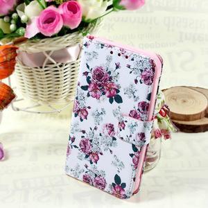 Stylové peněženkové pouzdro pro Samsung Galaxy Xcover 3 - květinová koláž - 1