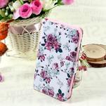 Stylové peněženkové pouzdro pro Samsung Galaxy Xcover 3 - květinová koláž - 1/7