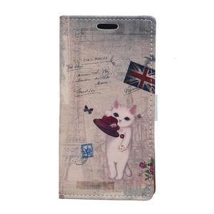 Peněženkové pouzdro na Samsung Galaxy Xcover 3 - kočička - 1