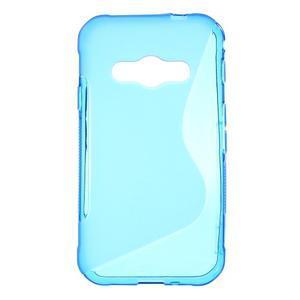 S-line gelový obal na Samsung Galaxy Xcover 3 - modrý - 1