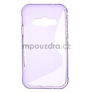 S-line gelový obal na Samsung Galaxy Xcover 3 - fialový - 1