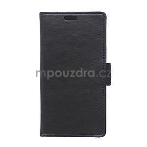 Černé koženkové pouzdro Samsung Galaxy Xcover 3 - 1