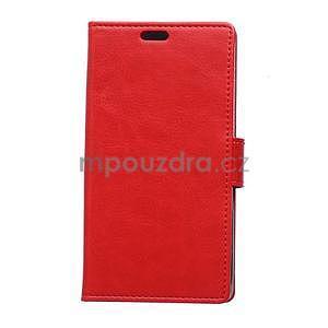 Červené koženkové pouzdro Samsung Galaxy Xcover 3 - 1