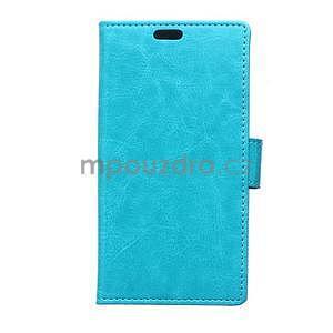 Modré koženkové pouzdro Samsung Galaxy Xcover 3 - 1