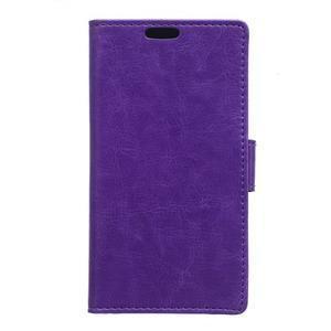 Fialové koženkové pouzdro Samsung Galaxy Xcover 3 - 1