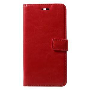 Standy PU kožené knížkové pouzdro na Nokia 5 - červené - 1