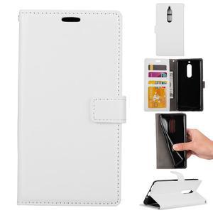 Wallet PU kožené knížkové pouzdro na Nokia 5 - bílé - 1