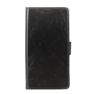Crazy PU kožené zapínací pouzdro na Nokia 5 - černé - 1