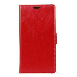 Crazy PU kožené zapínací pouzdro na Nokia 5 - červené - 1