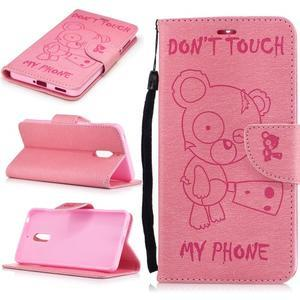 BadBeer peněženkové pouzdro na Nokia 6 - růžové - 1