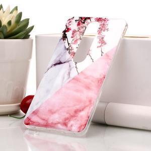Marble silikonový kryt na mobil Nokia 6.1 - růžový květ - 1