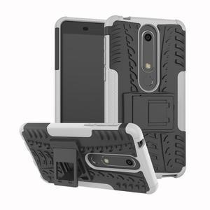 Outdoor odolný obal se stojánkem na Nokia 6.1 - bílý - 1