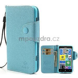 Peněženkové pouzdro na Nokia Lumia 625 - světle modré - 1