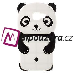 Panda silikonový obal na Samsung Galaxy A3 (2016) - černý - 1