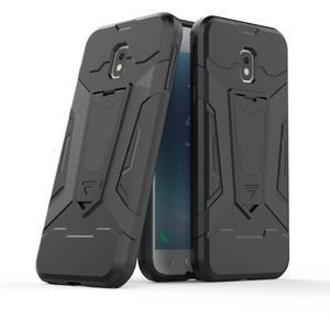 Combo odolný obal se stojánkem na Samsung Galaxy J3 (2017) - černý - 1