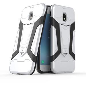 Combo odolný obal se stojánkem na Samsung Galaxy J3 (2017) - bílý - 1