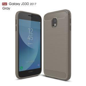 Carbo odolný obal na mobil Samsung Galaxy J3 (2017) - šedý - 1
