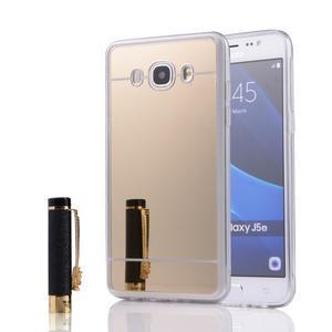 Zrcadlový gelový obal na Samsung Galaxy J5 (2016) - zlatý - 1