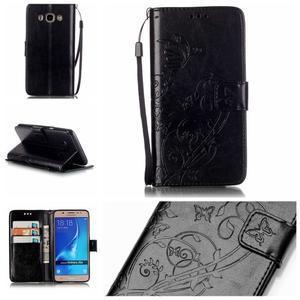 MagicFly PU kožené pouzdro na Samsung Galaxy J5 (2016) - černé - 1