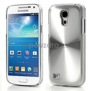 Metalický obal na Samsung Galaxy S4 mini - stříbrný - 1