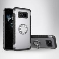 Ring odolný obal se stojánkem na Samsung Galaxy S8 Plus - stříbrný - 1/3
