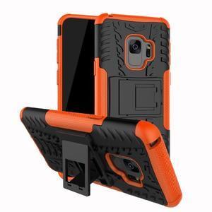 Outdoor odolný obal na Samsung Galaxy S9  - oranžový - 1