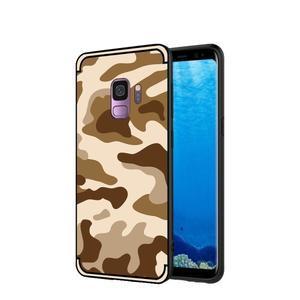Camouflage hybridní odolný obal na Samsung Galaxy S9 - hnědý - 1