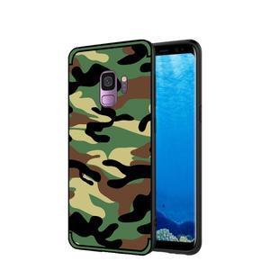 Camouflage hybridní odolný obal na Samsung Galaxy S9 - zelený - 1