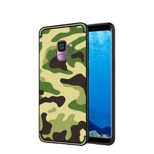 Camouflage hybridní odolný obal na Samsung Galaxy S9 - světlezelený - 1