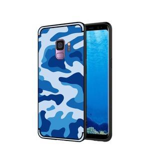 Camouflage hybridní odolný obal na Samsung Galaxy S9 - modrý - 1