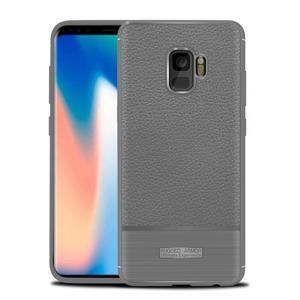 Skiny gelový obal s broušením na Samsung Galaxy S9 - šedý - 1