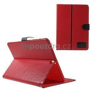 Flatense stylové pouzdro pro Samsung Galaxy Tab S2 9.7 - červené - 1