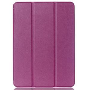 Trifold polohovatelné pouzdro na Samsung Galaxy Tab S2 9.7 - fialové - 1